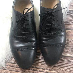 J. Crew Black Leather Oxfords